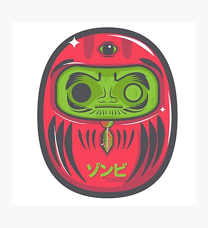 Daruma Doll Zombie Photographic Print