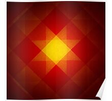 Red and yellow star pattern Poster
