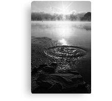 Water splash on Solina Lake water Canvas Print