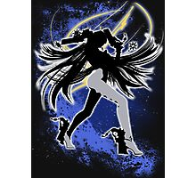 Super Smash Bros. White Bayonetta (Default) Silhouette Photographic Print