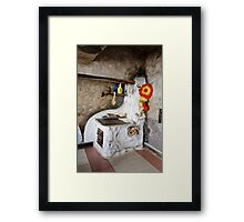Old kitchen in a cottage  Framed Print