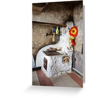 Old kitchen in a cottage  Greeting Card