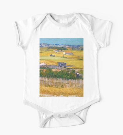 1888-Vincent van Gogh-The harvest-73x92 One Piece - Short Sleeve