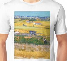 1888-Vincent van Gogh-The harvest-73x92 Unisex T-Shirt