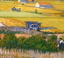 1888-Vincent van Gogh-The harvest-73x92 Sticker