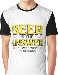 beer answer Graphic T-Shirt