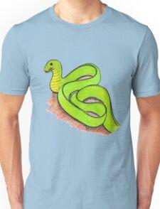Cute little green snake Unisex T-Shirt