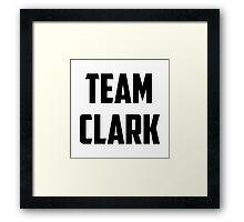Team Clark - Black on White Framed Print