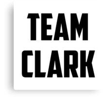 Team Clark - Black on White Canvas Print