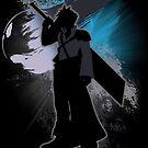 Super Smash Bros. Black Advent Cloud Silhouette by jewlecho