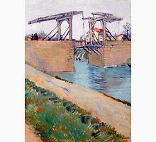 1888-Vincent van Gogh-The Langlois bridge-59,5x74 Unisex T-Shirt