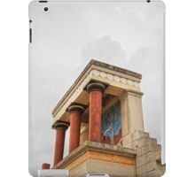 The palace of Knossos Minotaur or Labyrinth Restored North Entrance with charging bull fresco iPad Case/Skin