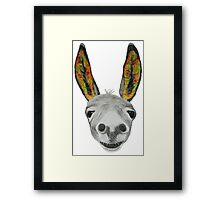 Funny donkey (orange/red/green) Framed Print