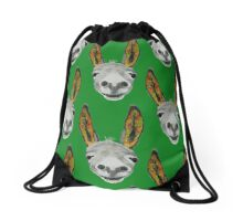 Funny donkey (orange/red/green) Drawstring Bag
