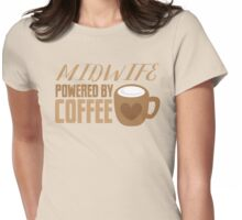 Midwife powered by COFFEE Womens Fitted T-Shirt