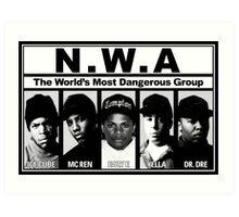 N.W.A Niggaz Wit Attitudes Art Print