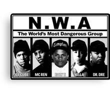 N.W.A Niggaz Wit Attitudes Canvas Print