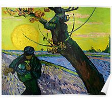 1888-Vincent van Gogh-The sower-32x40 Poster