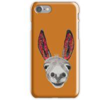 Funny donkey (red/orange) iPhone Case/Skin