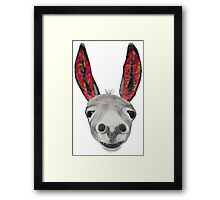 Funny donkey (red/orange) Framed Print