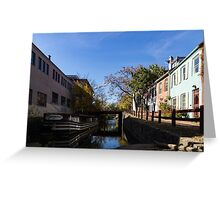 The Georgetown - an Old Boat on Historic Chesapeake and Ohio Canal in Washington DC Greeting Card