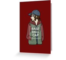 Bucky (Baseball Cap) Greeting Card