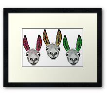 Funny donkeys (version 1) Framed Print
