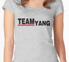 Team Yang Grey's Black Women's Fitted Scoop T-Shirt