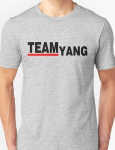 Team Yang Grey's Black Unisex T-Shirt