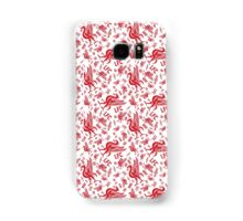 LFC Pattern - Red and White Samsung Galaxy Case/Skin