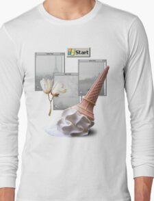 Paris Vaporwave Aesthetics Long Sleeve T-Shirt