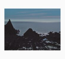 SILHOUETTED ROCKS BLEGBERRY BEACH DEVON  Baby Tee