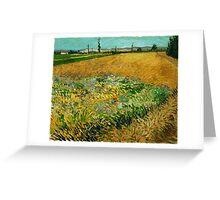 1888-Vincent van Gogh-Wheatfield-54x65 Greeting Card