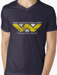 Weyland Yutani (Scuffed logo) Mens V-Neck T-Shirt