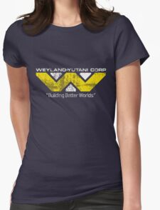Weyland Yutani (Scuffed logo) Womens Fitted T-Shirt