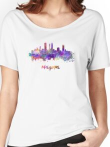 Nagoya skyline in watercolor Women's Relaxed Fit T-Shirt
