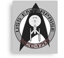 USS Enterprise Logo - Star Trek - NCC 1701 (movie) Canvas Print