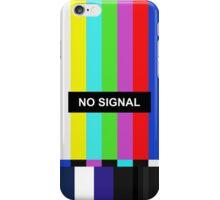 No Signal TV screen iPhone Case/Skin