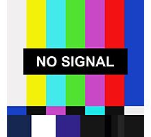 No Signal TV screen Photographic Print