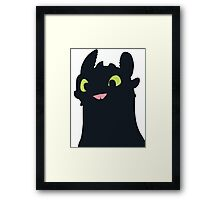 Toothless The Dragon Framed Print