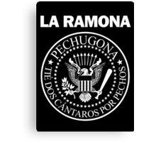 LA RAMONA (White) Canvas Print