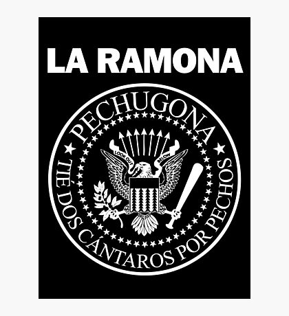 LA RAMONA (White) Photographic Print