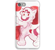 Red Watercolor Mario iPhone Case/Skin