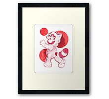 Red Watercolor Mario Framed Print
