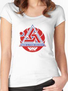 Alien Mars & Titan Colony Logo Women's Fitted Scoop T-Shirt