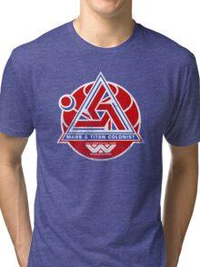 Alien Mars & Titan Colony Logo (scuffed) Tri-blend T-Shirt