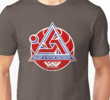 Alien Mars & Titan Colony Logo (scuffed) Unisex T-Shirt