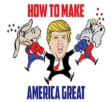 """Trump - """"How to Make America Great"""" Photographic Print"""