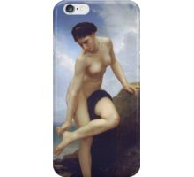 William-Adolphe Bouguereau - After The Bath iPhone Case/Skin