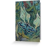 1889-Vincent van Gogh-Emperor moth-24,5x33,5 Greeting Card